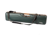 Negrini OU/SXS Uplander Ultra-Compact Hunting Shotgun Case with Leather Trim – 16405LX/5493 negrini gun case, upland gun case, over under gun case, side by side gun case, lightweight gun case, airline approved gun case, air travel approved gun case
